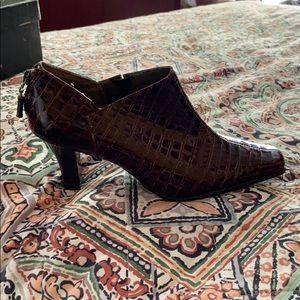 Patent croc shoe/booties